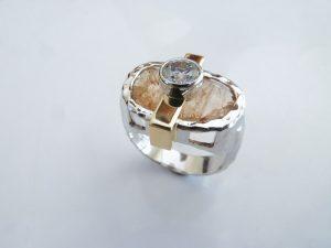Imperial Topaz Diamond Engagement Ring