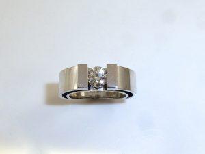 Matching Engagement Wedding Ring Modern Minimalistic Handmade